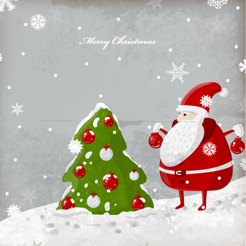 free vector Exquisite christmas illustration 02 vector