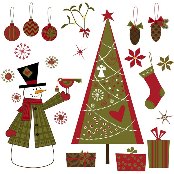 Christmas Tree Decorations Vector Free : Exquisite christmas ornaments vector free