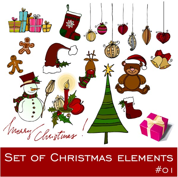 free vector Exquisite christmas ornaments vector