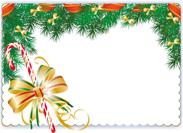 Exquisite christmas photo frame vector Free Vector / 4Vector
