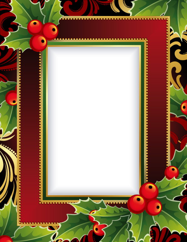 Free Vector Exquisite Christmas Photo Frame