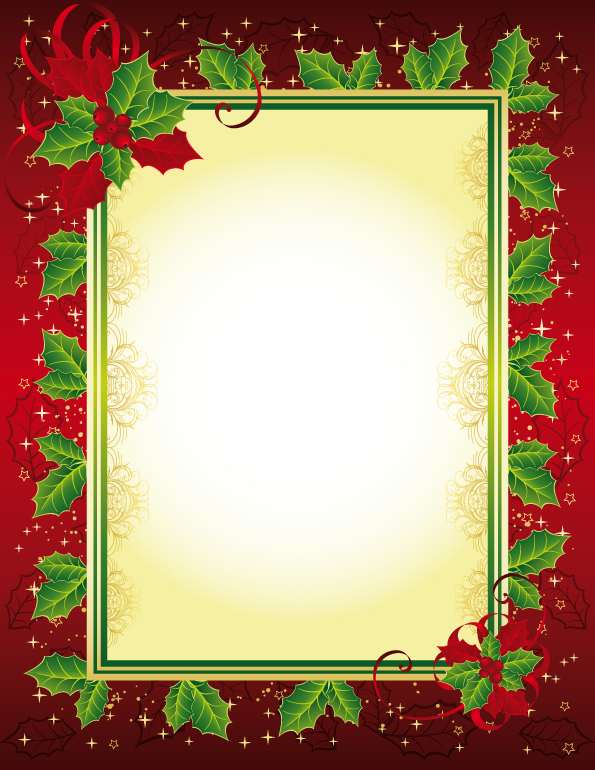 Exquisite Christmas Photo Frame 25165 Free Eps Download