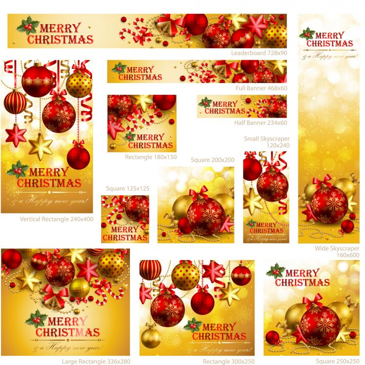 free vector Exquisite christmas promotional 01 vector