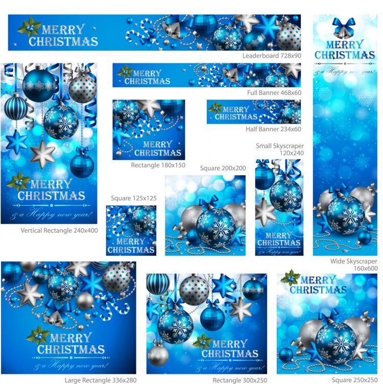free vector Exquisite christmas promotional 02 vector