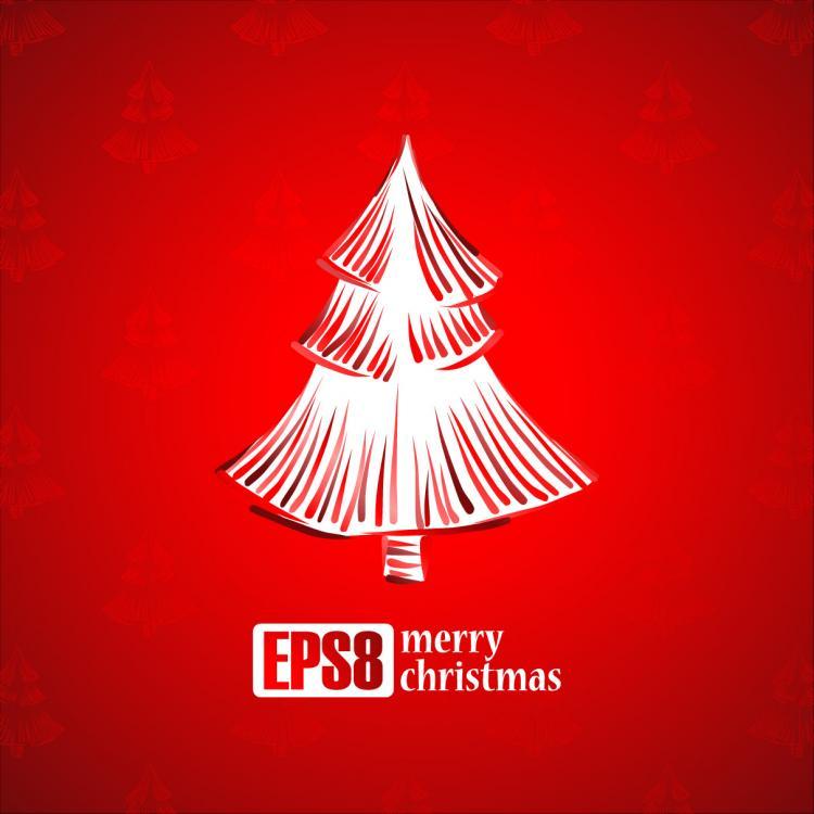 free vector Exquisite christmas tree 2 vector