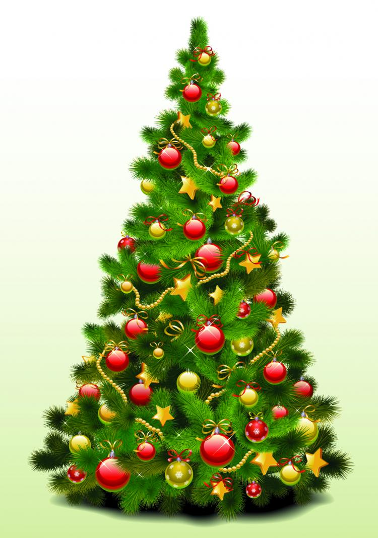 Exquisite Christmas Tree 25023 Free Eps Download 4 Vector