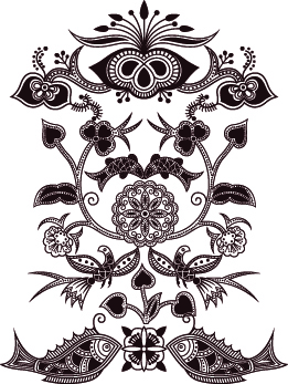 free vector Exquisite Classic Traditional Pattern Vector Material Exquisite