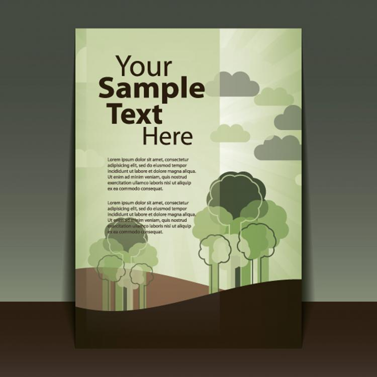 free vector Exquisite cover template 03 vector