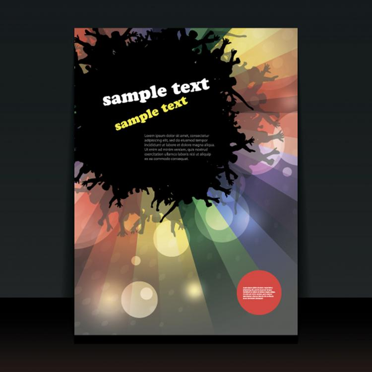 free vector Exquisite cover template 04 vector