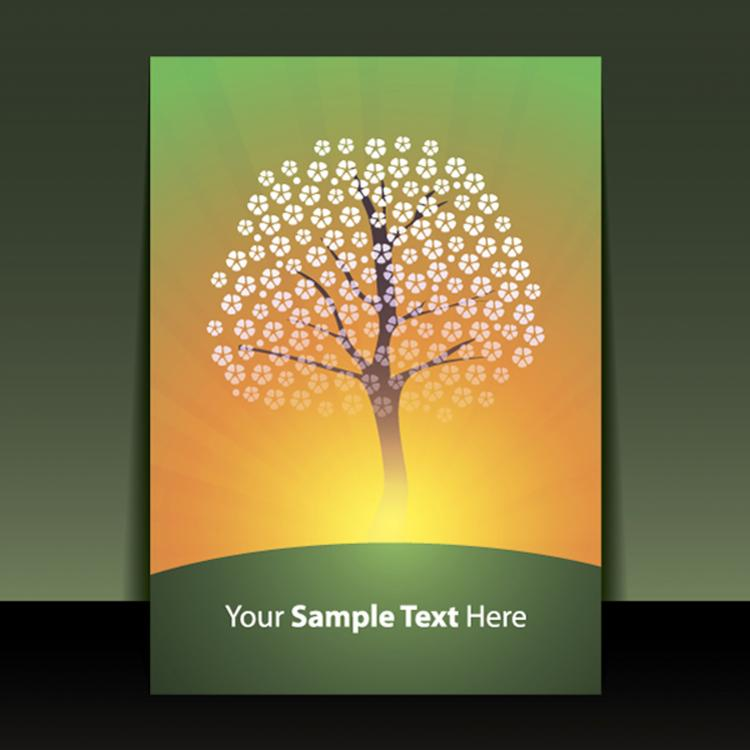 free vector Exquisite cover template 08 vector