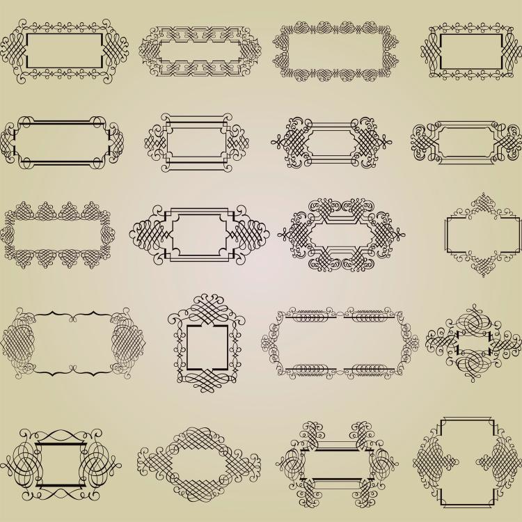 free vector Exquisite decorative patterns 02 vector