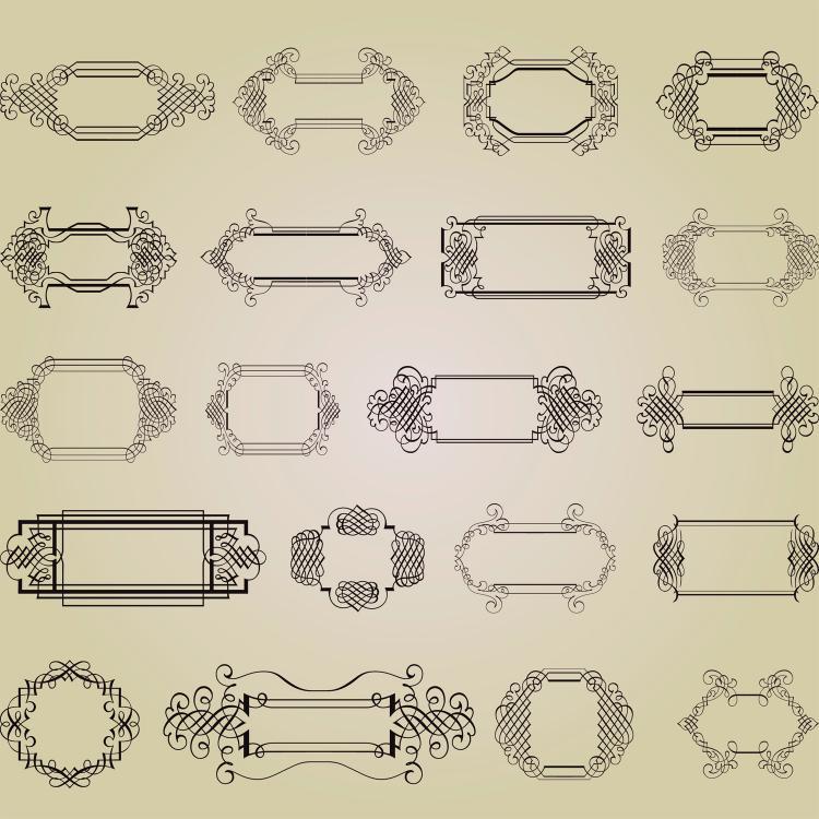 free vector Exquisite decorative patterns 03 vector