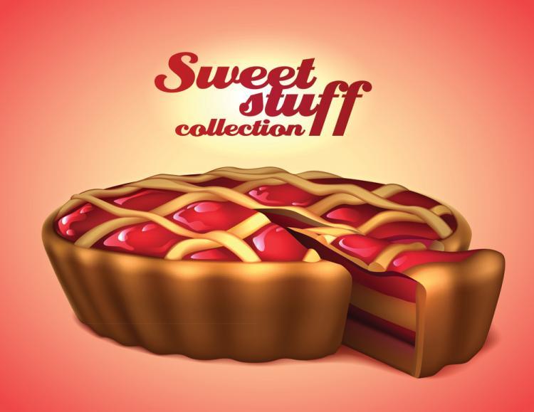 free vector Exquisite desserts 04 vector