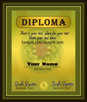 free vector Exquisite diploma vector