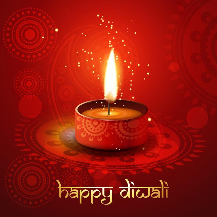 free vector Exquisite diwali background 05 vector