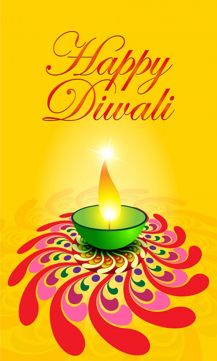 free vector Exquisite diwali card 05 vector