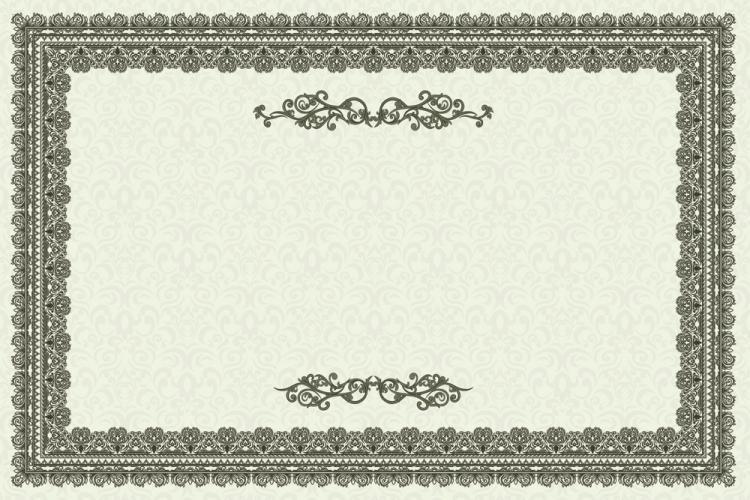 free vector Exquisite european certificate template 01 vector