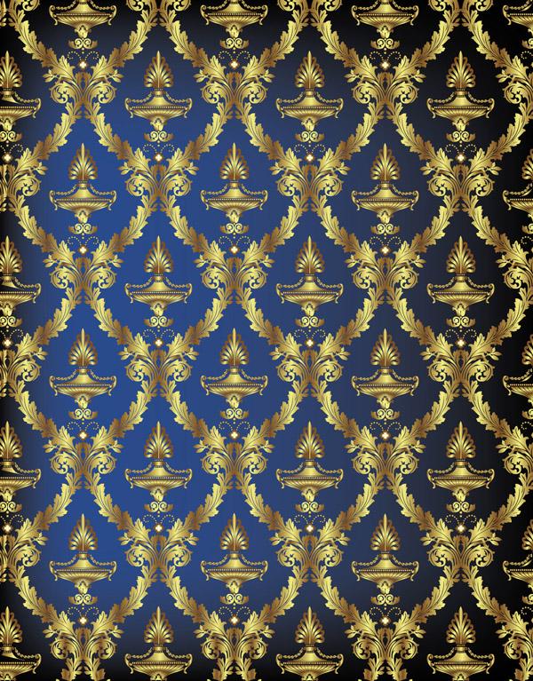 free vector Exquisite european fabric vector background