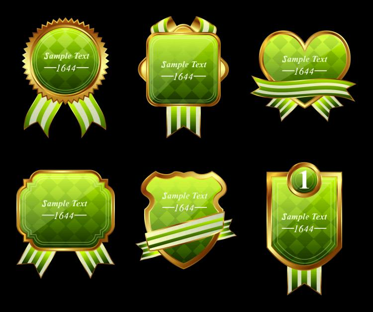 free vector Exquisite europeanstyle badge labels 01 vector
