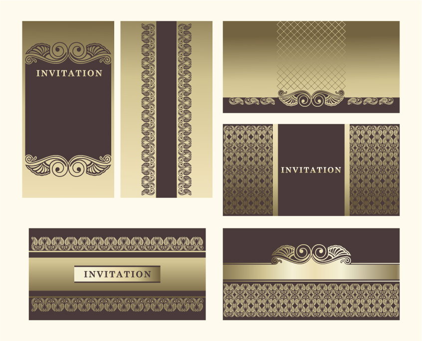 free vector Exquisite europeanstyle pattern background 04 vector
