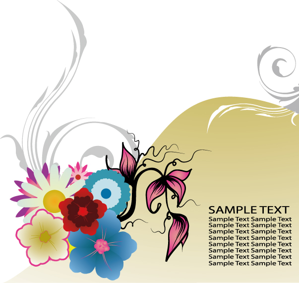 free vector Exquisite fashion pattern vector material package-2