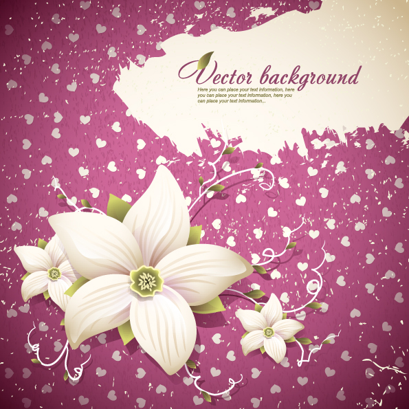 free vector Exquisite floral background shading 01 vector
