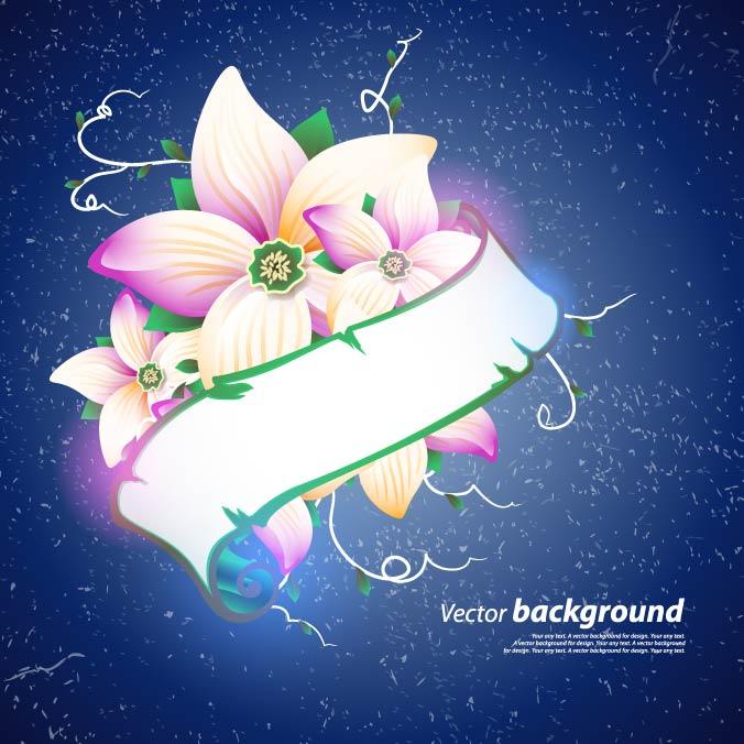 free vector Exquisite floral design background 04 vector