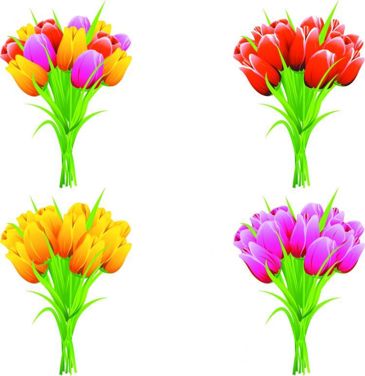 free vector Exquisite flowers 01 vector