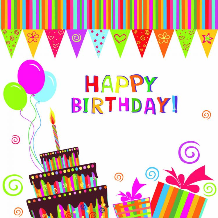 free vector Exquisite handpainted elements birthday 05 vector