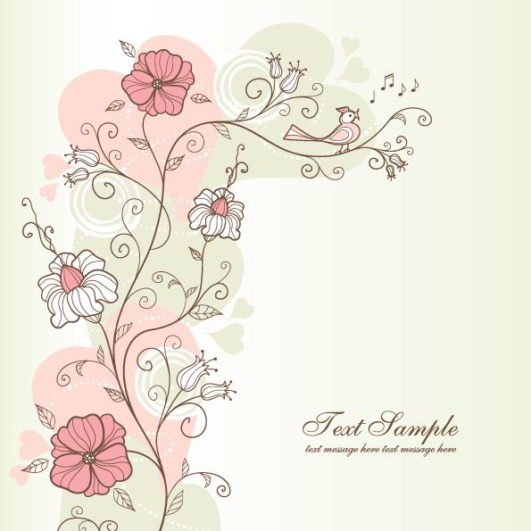 free vector Exquisite handpainted pattern background 04 vector