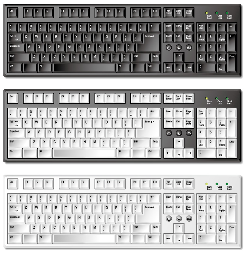 free vector Exquisite keyboard vector material