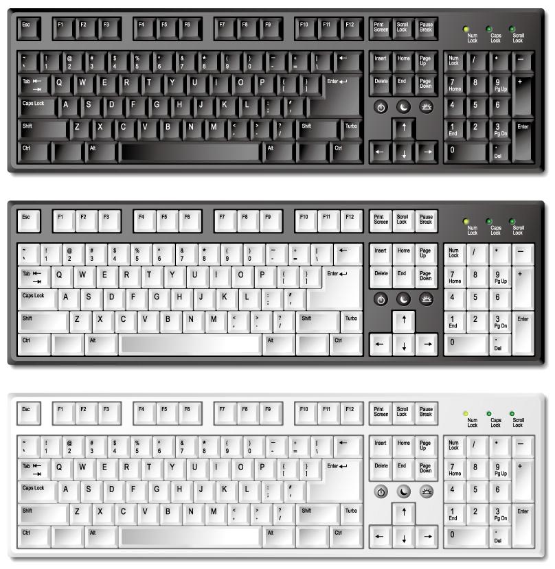 free vector Exquisite keyboard