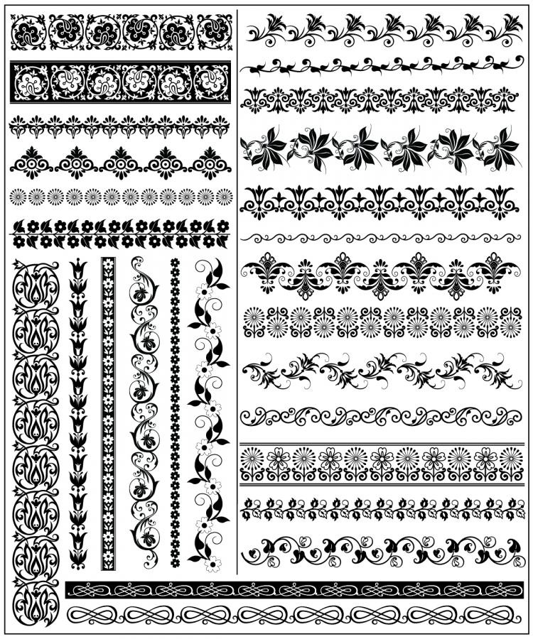 free vector Exquisite lace pattern 01 vector