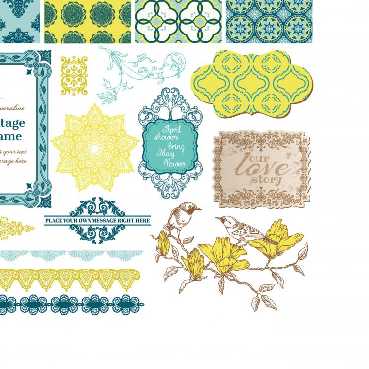 free vector Exquisite lace pattern 02 vector 22537