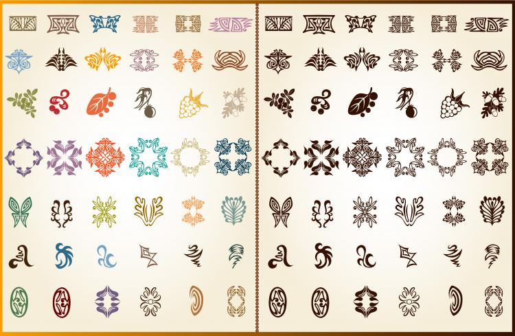 free vector Exquisite lace pattern 02 vector 22590