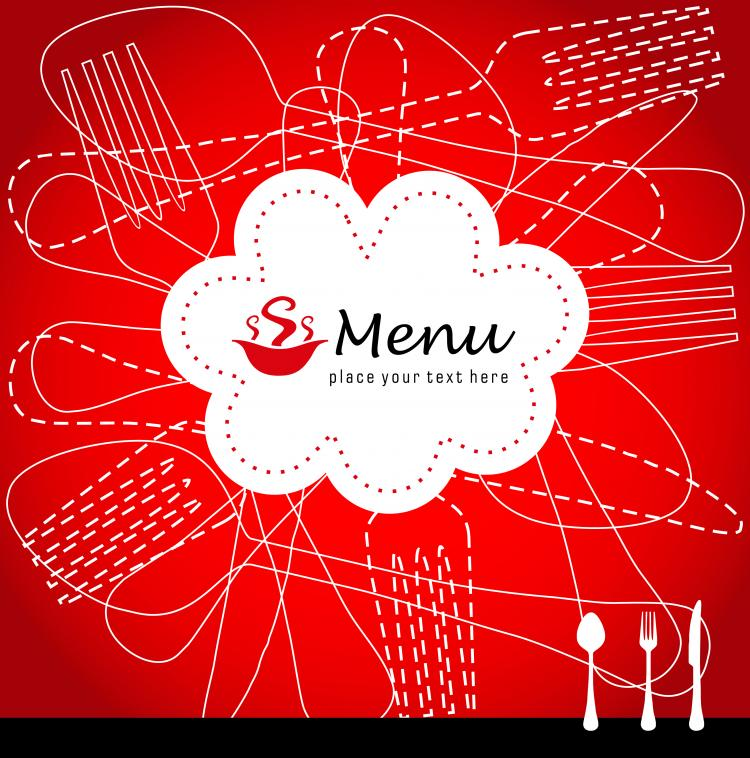 free vector Exquisite menu cover 01 vector