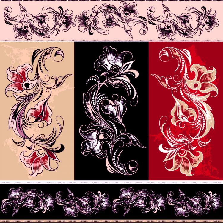 free vector Exquisite pattern 01 vector