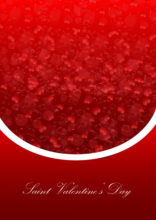 free vector Exquisite valentine background 02 vector