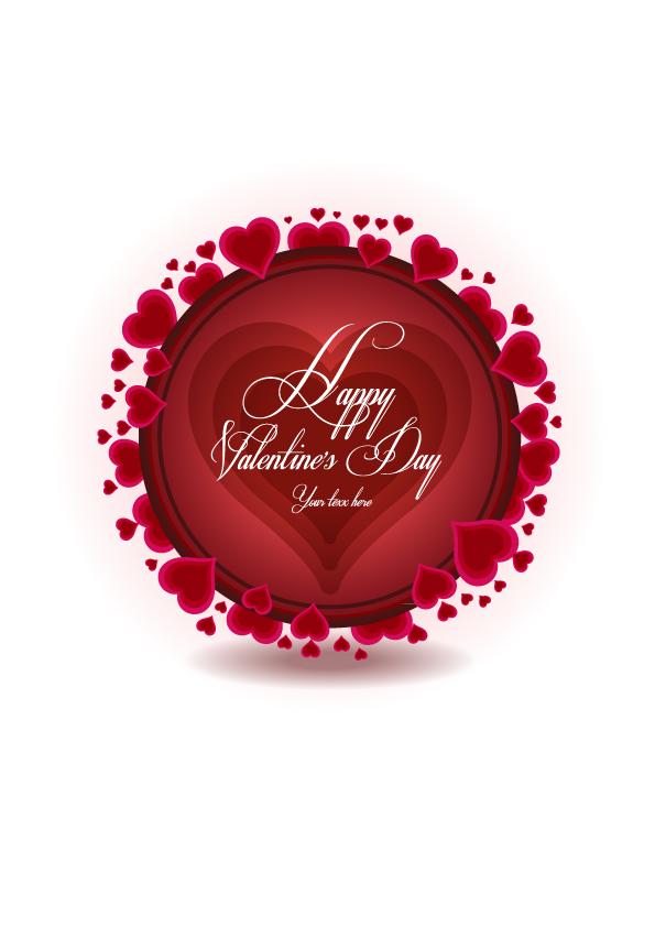 free vector Exquisite valentine background 02 vector