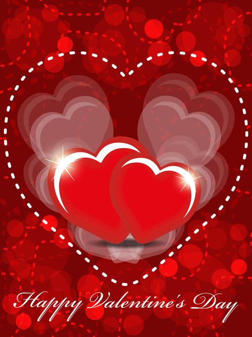 free vector Exquisite valentine background 05 vector