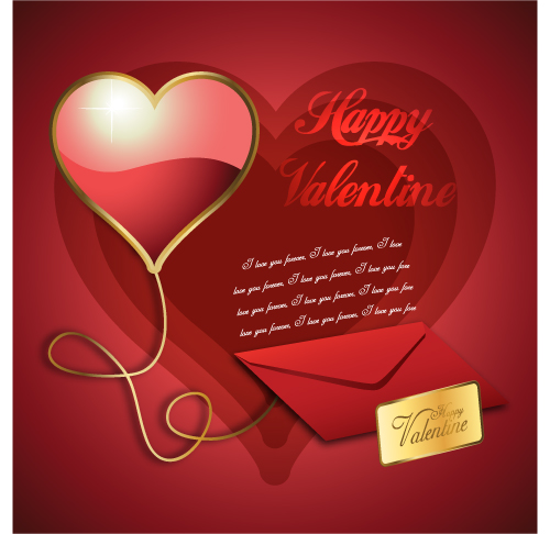 free vector Exquisite valentine background 05 vector