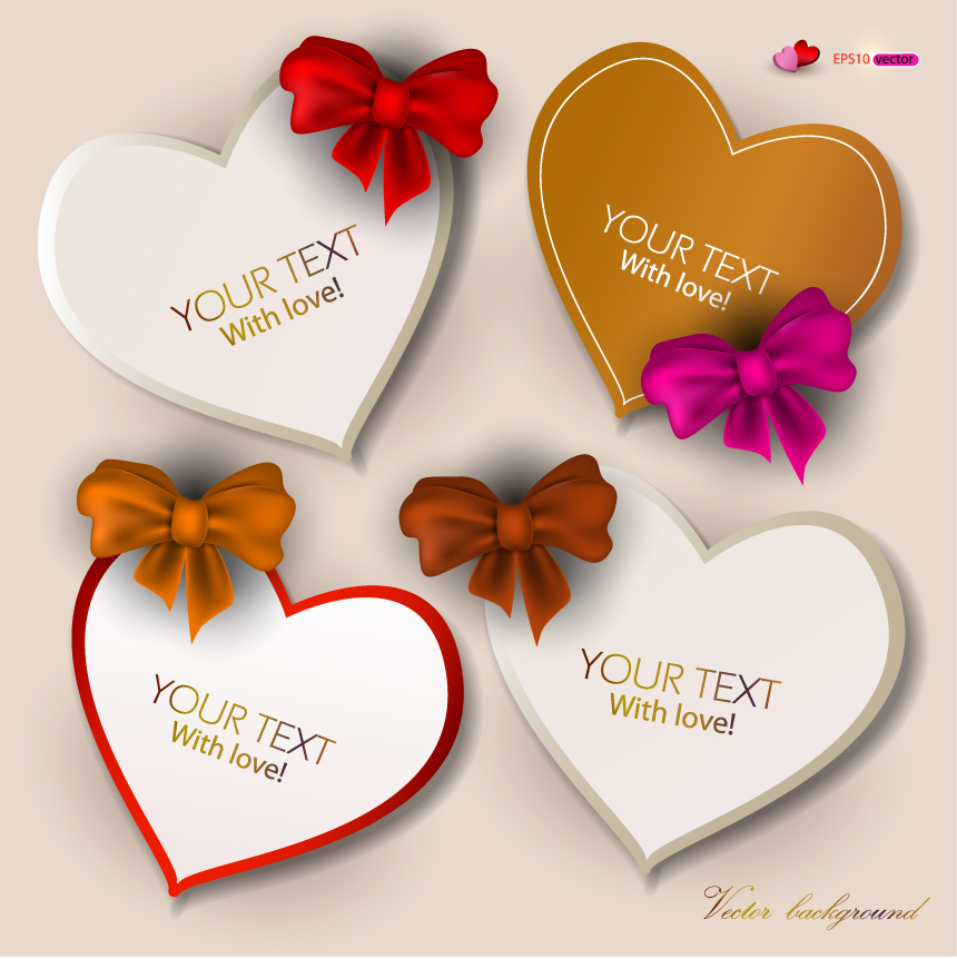 free vector Exquisite valentine labels 01 vector