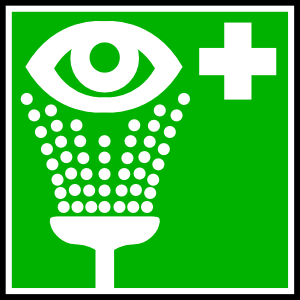 free vector Eye Rinsing Cleaning Medical clip art