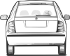 free vector Fabia Car Back View clip art