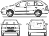 free vector Fabia Car clip art