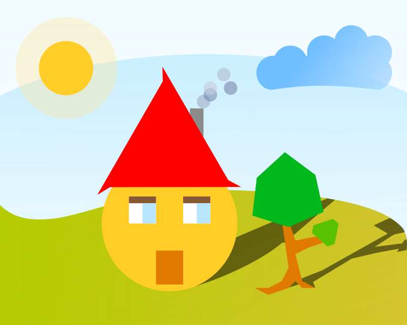 free vector Face house