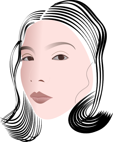 free vector Face Of A Lady clip art