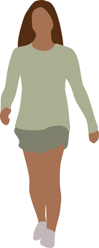 free vector Faceless woman walking