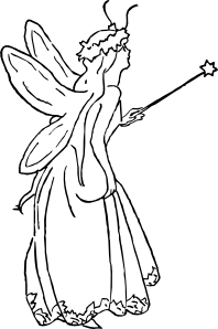 free vector Fairy Queen clip art