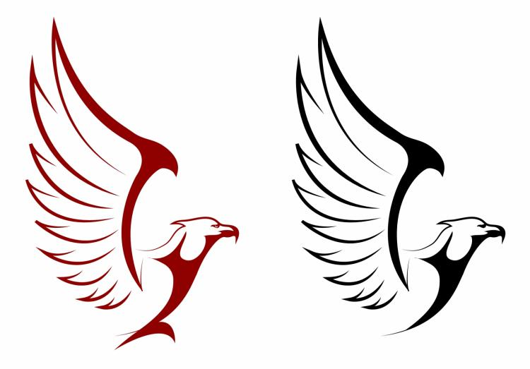 Falcon and eagle mascots Free Vector / 4Vector